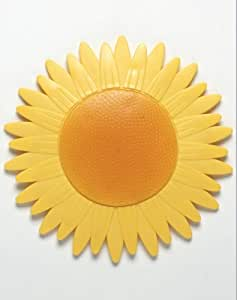 Sonnenblume Rutschstopper für Badewanne und Dusche gelb orange 13cm x 13cm 5er Set
