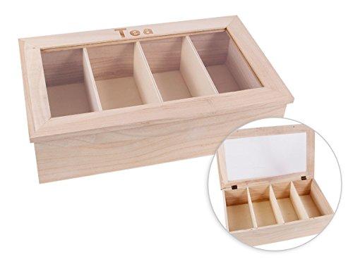 Boîte avec couvercle coffret en Bois brut de qualité supérieure à thé Tea Box caisse Valisette, choisir:Bois Box 10