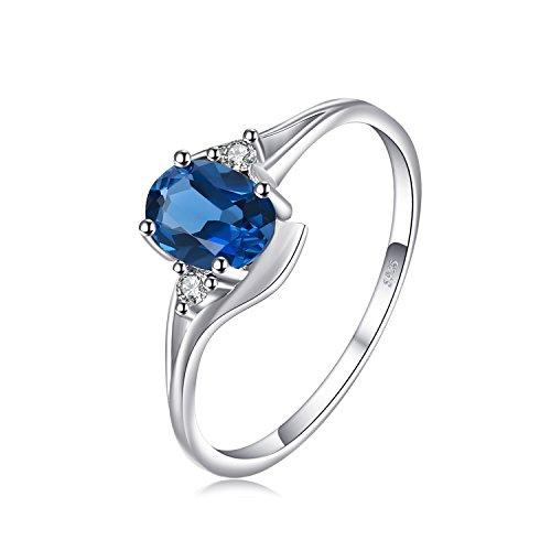 Jewelrypalace Natural Londres topacio azul piedra