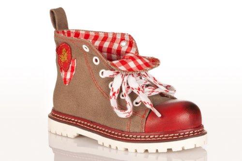 Kinder Trachten Sneaker - JOJO - helloliv/rot/rot Rot