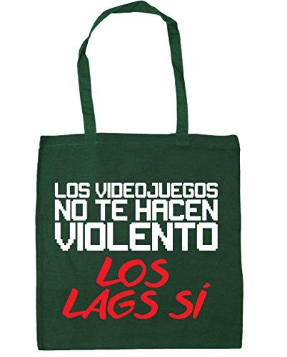 HippoWarehouse LOS VIDEOJUEGOS NO TE HACEN VIOLENTO LOS LAGS SÍ Bolso de Playa Bolsa Compra Con Asas para gimnasio 42cm x 38cm 10 litros capacidad