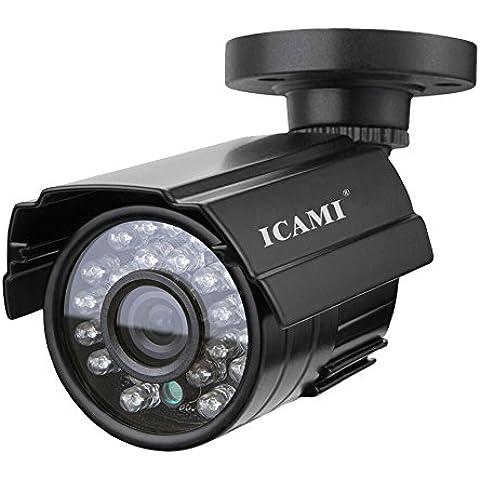 - Colore 3,6mm CMOS 1200TVL HD grandangolare fotocamera Mini CCTV 24LED IR-CUT Day Night Vision esterno Bullet Secuity
