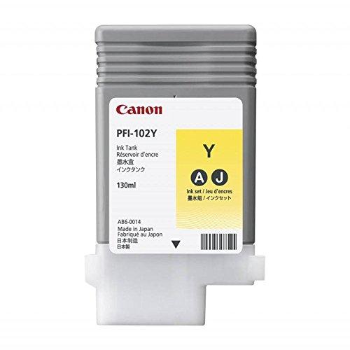 Canon LUCIA PFI-102 Y Cartouche d'encre d'origine 1 x jaune pigmenté