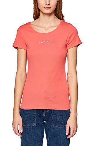 ESPRIT Damen 998EE1K807 T-Shirt, Rot (Coral 3 647), (Herstellergröße: XX-Large) -
