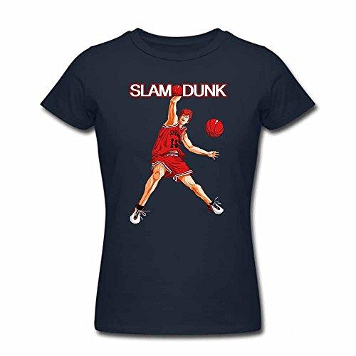 SLAM DUNK -Handsome basketball master Sakuragi Hanamichi denim T-shirt for Women-S