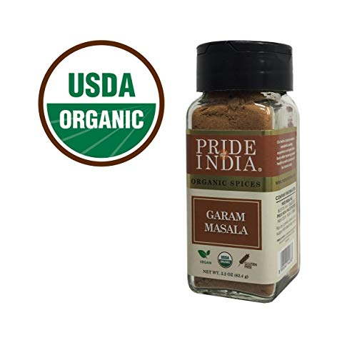 Ginger Essential Blend (Pride Of India -Organic Garam Masala Ground, 2.2 oz (62 gm) Dual Sifter Jar, Certified Pure & Vegan Indian Blend Spice, Perfect Seasoning- Buy 1 GET 1 Free (Mix and Match - Promo APPLIES at Checkout))