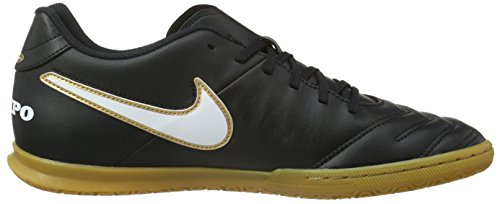 Nike Tiempox Rio Iii Ic, Chaussures de Football Homme Black (Black/White-Metallic GoldBlack/White-Metallic Gold)
