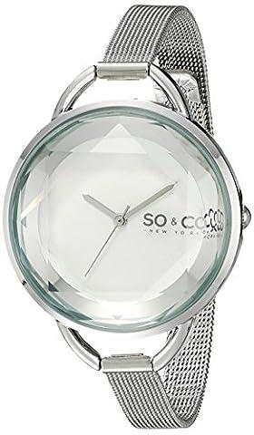 SO & CO New York Damen-Armbanduhr SoHo Analog Edelstahl Silber 5104.1