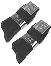 10o 20pares Negra Classic señor Calcetines–Día–Calcetines Abeba–El tiempo libre Calcetines para Hombres [Talla 35–50], negro, 43/46 10 Paar