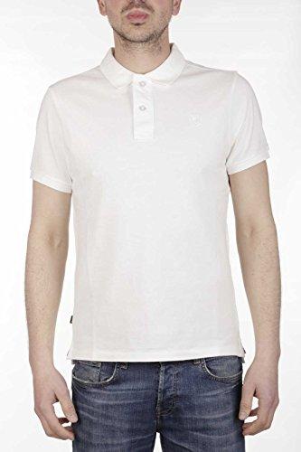 Blauer Herren Poloshirt Bianco