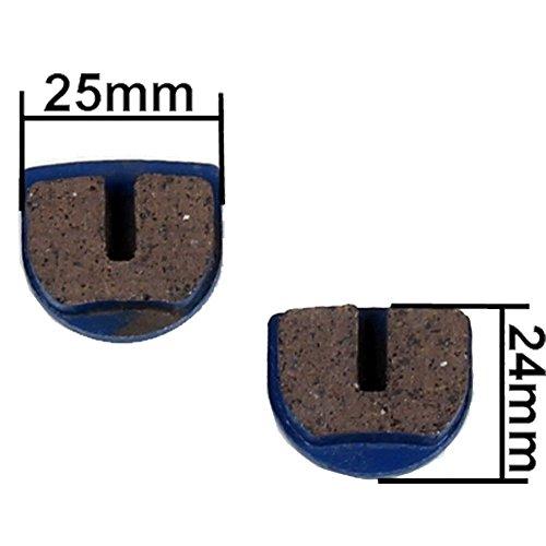 Bremsbeläge für Mach1 E Elektro oder Benzin Scooter Pocket Bike für Bremse (blau)