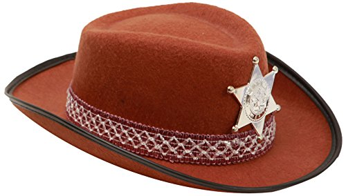 viving Kostüme viving costumes201601 Cowboy braun Hat für Kinder (53 cm, One ()