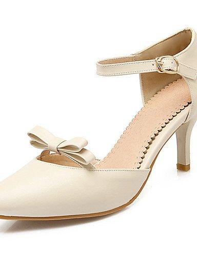 WSS 2016 Chaussures Femme-Soirée & Evénement / Habillé / Décontracté-Noir / Rose / Beige-Talon Aiguille-Talons / Bout Pointu / Bout Ouvert-Talons- beige-us5.5 / eu36 / uk3.5 / cn35