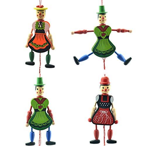 Amosfun Juguete Marionetas muñecos Madera muñecos