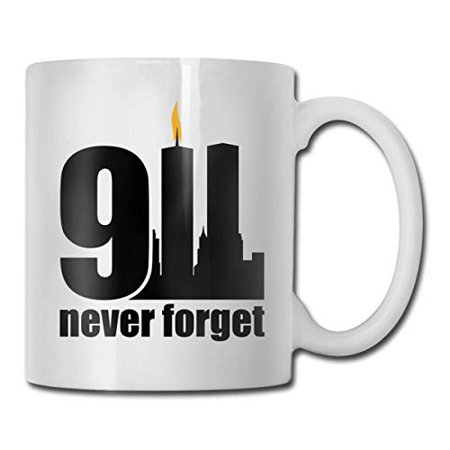 Daawqee Becher Coffee Mugs 11oz Funny Cup Milk Juice Or Tea Cup Remember 9-11 Twin Towers & Pentagon Birthday