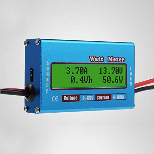 Maso Simple DC Power Analysator, 12 V, 24 V, Gleichspannung, Watt, Volt, Amp Meter Solar Wind Analyzer Energie-Monitor Mtx-monitor