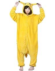 Autek Animaux Onesie unisexe Costume de déguisement Hoodies Pyjamas dorment usage Pikachu (PJ-Pikachu)