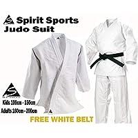 Uniforme de entrenamiento de Judo 550grm Spirit Sports 100% cotón (120cm)