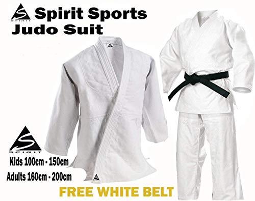 Uniforme de entrenamiento de Judo 550grm Spirit Sports 100% cotón (140cm)