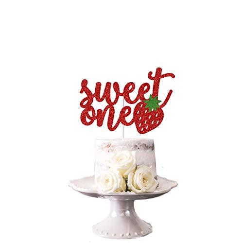 One Cake Topper Berry S¨¹?er Cake Topper Erdbeer Cake Topper Erdbeer Smash Cake Topper Erdbeer Geburtstagsfeier ()