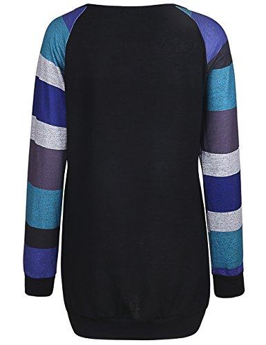 ISASSY Damen Langarm T Shirt Bluse Oberteile Tops Pullover Abbildung 3