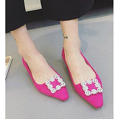 Confortevole ed elegante piatto scarpe donna estate tacchi Punta Felpa casual tacco basso scintillanti di Glitter Nero / Grigio / Fucsia Altri Black