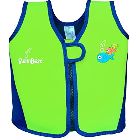 Swimbest - Chaleco de flotabilidad (de 18 meses a 6 años) verde Green/navy Talla:18 months - 3 years