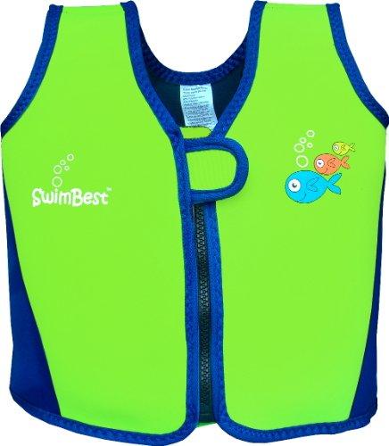 Swimbest chaleco de natación -16meses - 3años - Verde y Azul Marino (SJTWS3-03)