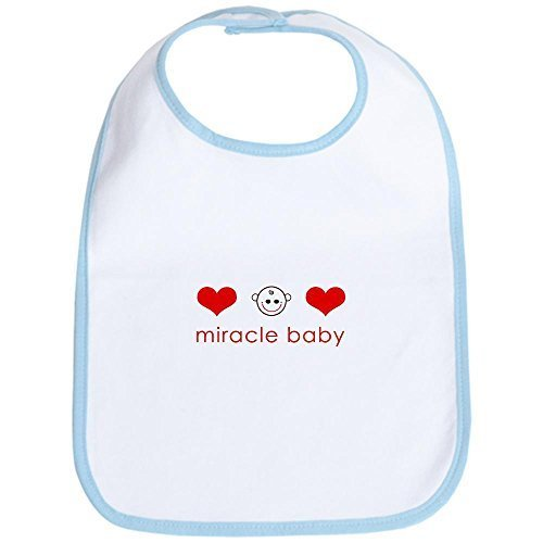 by CafePress CafePress Miracle Baby Face Hearts Bib - Standard Sky Blue [Apparel] Gif...