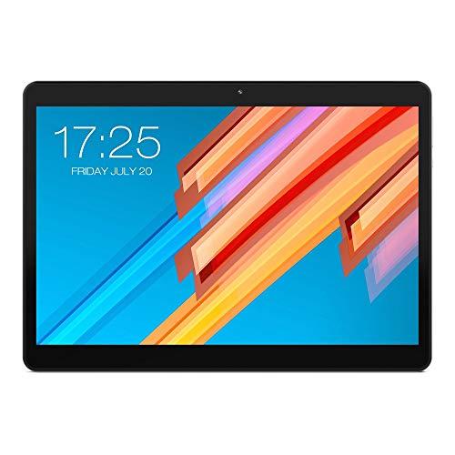 Fulltime E-Gadget 10,1 Zoll 2560 * 1600 Tablette PC Teclast Deca-Kern Androide 8.0 RAM 4GB + ROM 64GB Doppel-4G-Telefon-Tabletten Doppel-WiFi 6600 mAh Tablet PC (Schwarz)