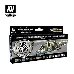 VALLEJO-3071601 71601 VALLEJO Model Air Soviet 17 M, Color Surtido, 17ml (3071601