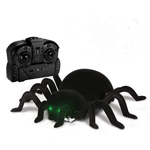 MECO Juguete de Control Remoto RC Juguete de Araña Simulado Araña Teledirigida Spider Wall Climbing Juego de Miedo Broma Regalo Divertido de Halloween para Niños, Adolescentes, Adultos