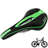 ZSR-haohai Small component Comfortable Bike Race Saddle Bicycle Saddle Seat MTB for Body Bicycle accessories (Color : Green)