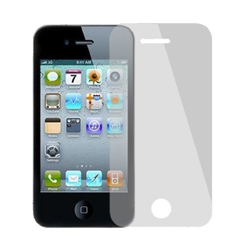 Silver Tone Mirror front screen Cover films Protector voor de iPhone 4 4G 4S 4GS 4s Mirror Screen Protector