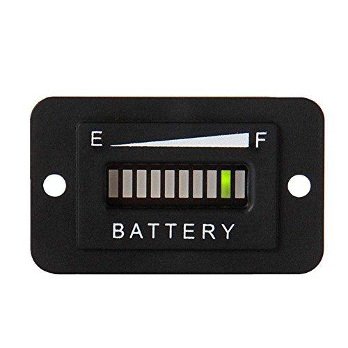 YouN Medidor de indicador de batería LED de 12 V-24 V