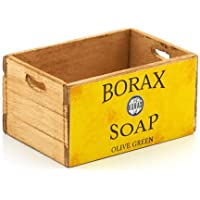 MyTinyWorld Dolls House Borax Olive Green Branded Wooden Crate