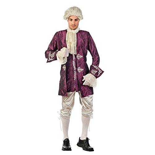 Casanova Barock Kostüm Herren violett weiß Historisches Kostüm zum Karneval - XL
