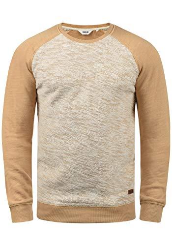 !Solid Flocker Herren Sweatshirt Pullover Flocksweat Pulli Mit Rundhalsausschnitt Aus 100% Baumwolle, Größe:M, Farbe:Ermine (5944)