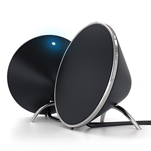 Satechi Dual Sonic v2.0 Altavoces de Computadora para Apple Macbook Pro , Air / Asus / Acer / Samsung / Dell/ Toshiba / HP / Sony Vaio y mucho más (Negro)