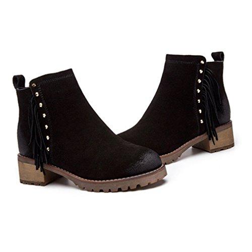 Welldone2017 Boots & Booties, Stivali Donna 1703, Negro