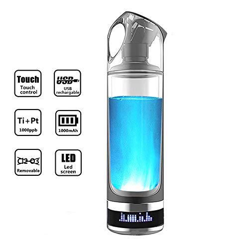ZL Borraccia Idrogeno/Tazza di Elettrolisi/Generatore Base Debole/Separazione di Idrogeno E Ossigeno, Alta Concentrazione, Carica USB, Anti-invecchiamento Anti-ossidazione