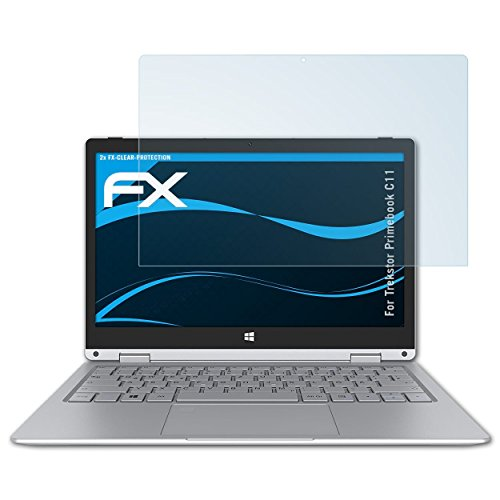 atFolix Schutzfolie kompatibel mit Trekstor Primebook C11 Folie, ultraklare FX Bildschirmschutzfolie (2X)