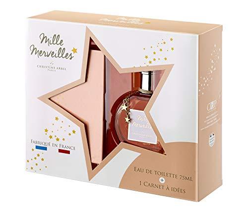 Coffret parfum femme Mille Merveilles Eau de toilette 75ml + 1 carnet à idées Fabriqué en France