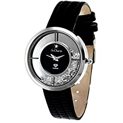 Diamond Black So Charm Bracelet Ladies Watch