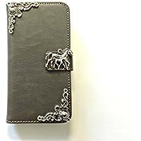 Pferd Handy Leder Brieftasche Fall, handgemachte Handy Brieftasche Abdeckung für iPhone 6 6s 7 Plus Samsung Galaxy S8 S8 Plus S7 Edge S6 Edge S5 Note 5 Note 4 Case Cover, MN0141