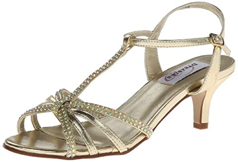Dyeables Women's Lindsey Dress Sandal,Gold Metallic,6 D US