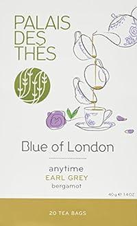 Palais des Thés Blue of London Earl Grey Tea with Bergamot, 20 Tea Bags (40g/1.4oz)