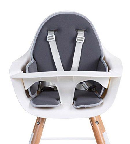 Childhome- EVOLU Sitzkissen Für Baby Hochstuhl, 60 x 56 x 4 cm, Dunkelgrau