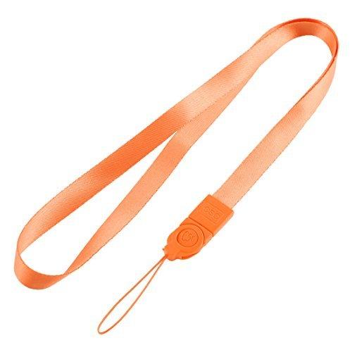 ID-Pass-Karten-Abzeichen MP4 IPod Träger Lanyard Umhängeband String orange - Id-abzeichen-träger