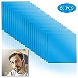 Wandefol Paquetes de 25 Hojas cuadradas de Espejo, Espejo de plástico Adhesivo para Pared, Azulejos de Espejo Flexibles, Espejo de Seguridad para niños 15 cm x 15 cm